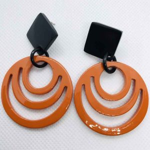 Hermes horn earrings