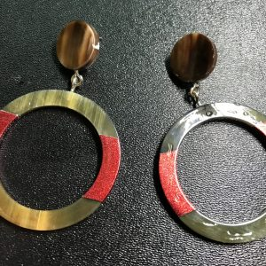 Hermes buffalo horn Earrings