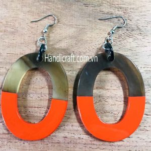 Handmade horn & lacquer Earrings