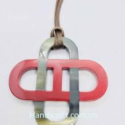 Lacquer Horn Pendant Necklace H00050