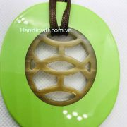 Oval Lacquer Pendant H00055