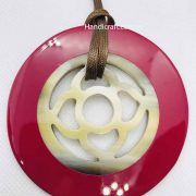 Circle Horn Lacquer Pendant H00072