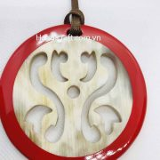 Red and Nature horn corlor Pendant H00082