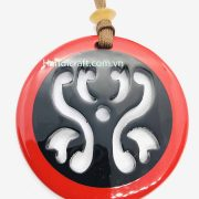 Red and black Pendant H00083