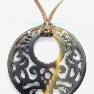 Black horn color pendant