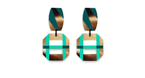 Handicraft horn lacquer earrings