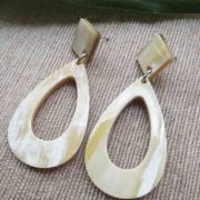Oval Horn Earrings
