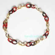 Horn lacquer necklace