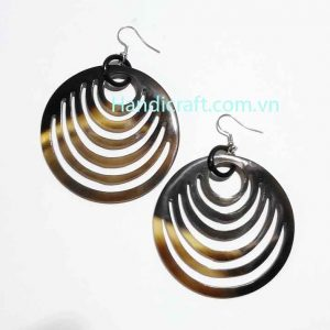 Circle earrings, nature horn earrings