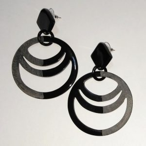 Buffalo horn earrings, gifts for her