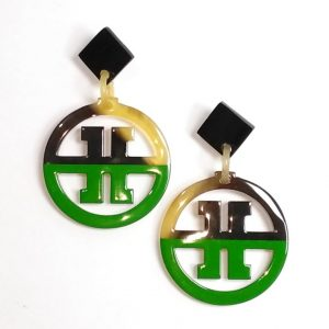Horn and lacquer earrings, beautiful earrings