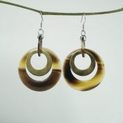 Horn jewelry for women, horn earring